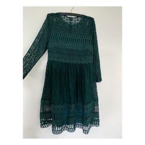ASOS maternity dress - emerald lace